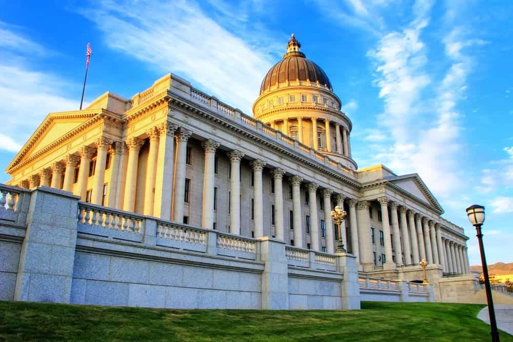 The Utah Capitol Building in Salt Lake City