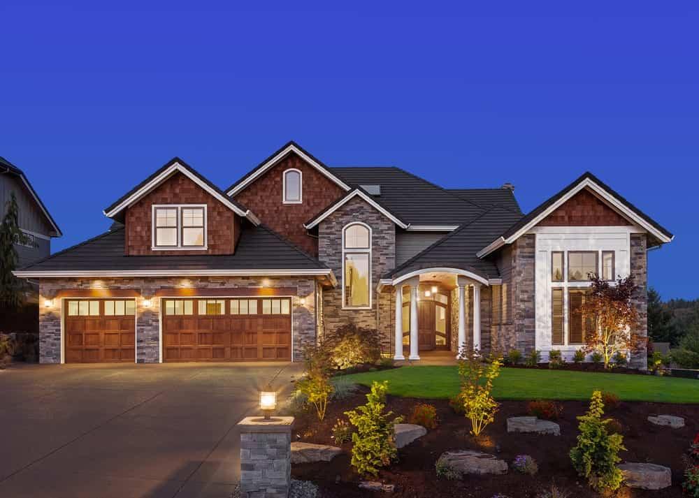 Luxury House with three-car garage