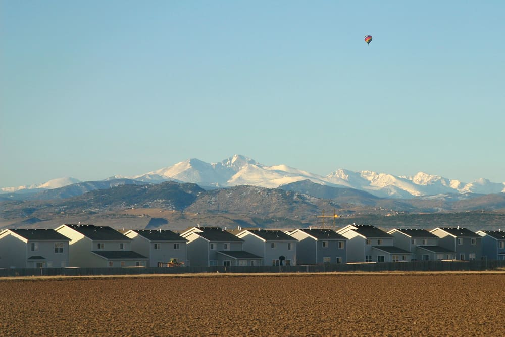 Neighborhood in Millcreek, UT with Wasatch Mountains in background