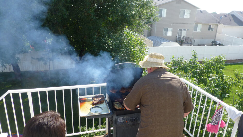 Grilling in a Syracuse, UT neighborhood