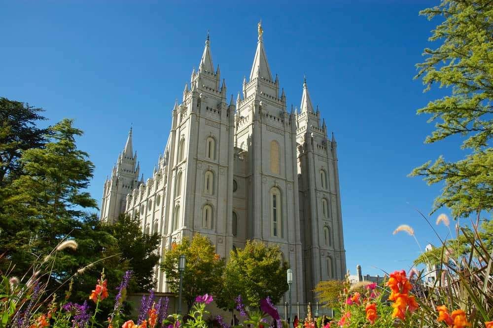 Salt Lake City Temple in Utah