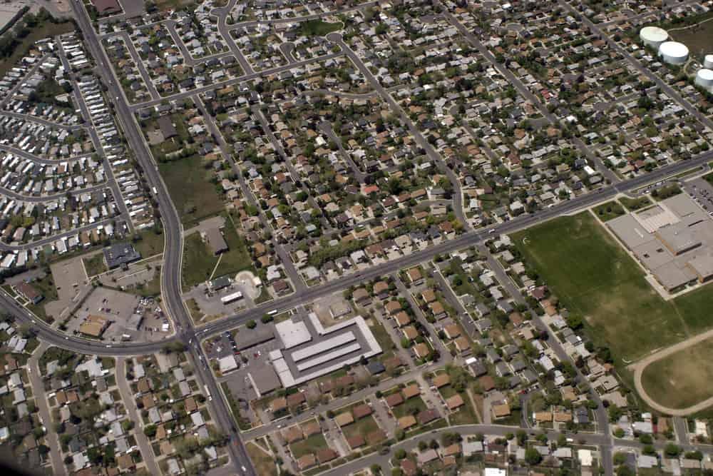 Aerial view of Riverton neighborhoods in Utah